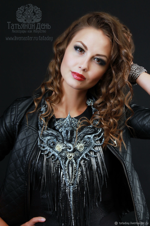 Choker leather 'Queen Alien', Necklace, St. Petersburg,  Фото №1