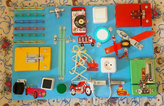 Развивающие игрушки ручной работы. Ярмарка Мастеров - ручная работа. Купить Бизиборд. Handmade. Комбинированный, развивающая доска, доска монтессори