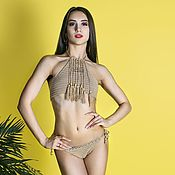 Одежда handmade. Livemaster - original item Crochet swimsuit Andy. Handmade.