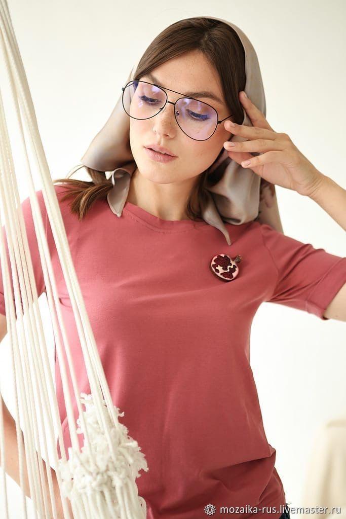 T shirt cotton basic red Cranberry, T-shirts, Novosibirsk,  Фото №1