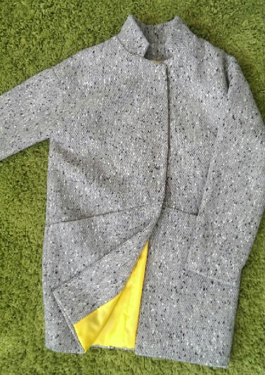 Верхняя одежда ручной работы. Ярмарка Мастеров - ручная работа. Купить Пальто демисезонное.. Handmade. Серый, пальто из шерсти