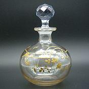 Винтаж handmade. Livemaster - original item decanter. Clear glass, HAND PAINTED ENAMELS. Con 19, early 20.. Handmade.