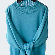 Одежда handmade. Livemaster - original item Knitted sweater with decorative elastic band. Handmade.