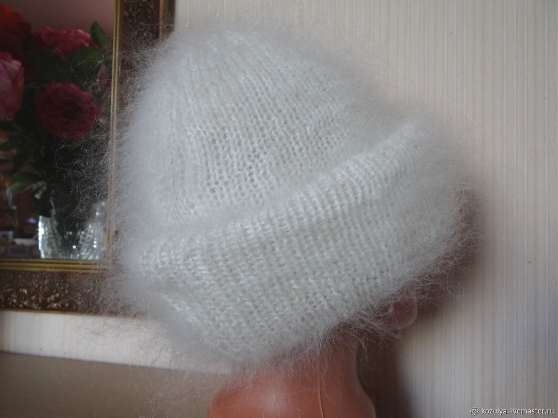 Зимняя двойная шапка.Вязанная шапка из козьей шерсти. Тёплая шапка, Шапки, Урюпинск,  Фото №1