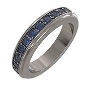 """Украшения handmade. Livemaster - original item Титановое кольцо """"Sapphire"""". Handmade."""