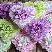 Мыло ручной работы. Ярмарка Мастеров - ручная работа Мыло Сердце в розах. Handmade.