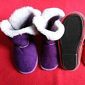 Обувь ручной работы handmade. Livemaster - original item Homemade ugg boots-natural sheepskin fur. Handmade.