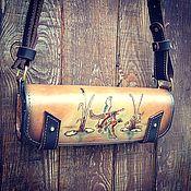 Сумки и аксессуары handmade. Livemaster - original item Vegetable-tanned genuine leather bandolier. Handmade.
