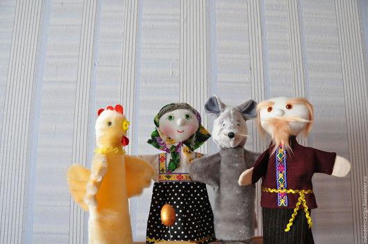 """Кукольный театр ручной работы. Ярмарка Мастеров - ручная работа. Купить Кукольный театр на руку """"Курочка Ряба"""". Handmade."""