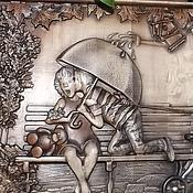 Картины и панно ручной работы. Ярмарка Мастеров - ручная работа Резное дерево_Первый поцелуй. Handmade.