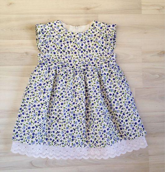 """Одежда для девочек, ручной работы. Ярмарка Мастеров - ручная работа. Купить Детские платье """"василек"""". Handmade. Красивое платье, платье"""