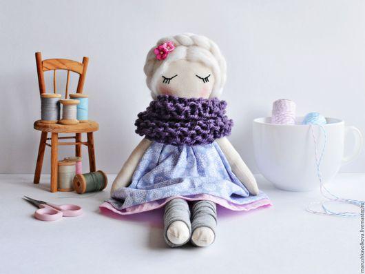 Коллекционные куклы ручной работы. Ярмарка Мастеров - ручная работа. Купить Куколка Мотя. Handmade. Голубой, кукла ручной работы