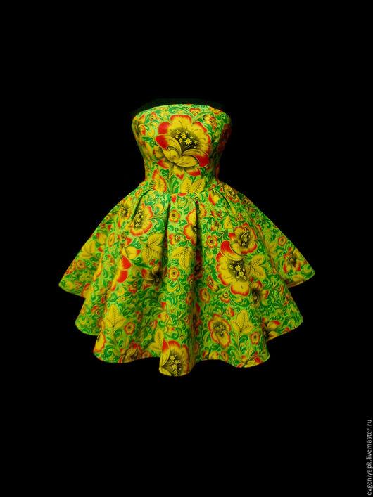 """Платья ручной работы. Ярмарка Мастеров - ручная работа. Купить Платье """"Дива Грин"""" без плечей на регилине. Handmade. Салатовый"""