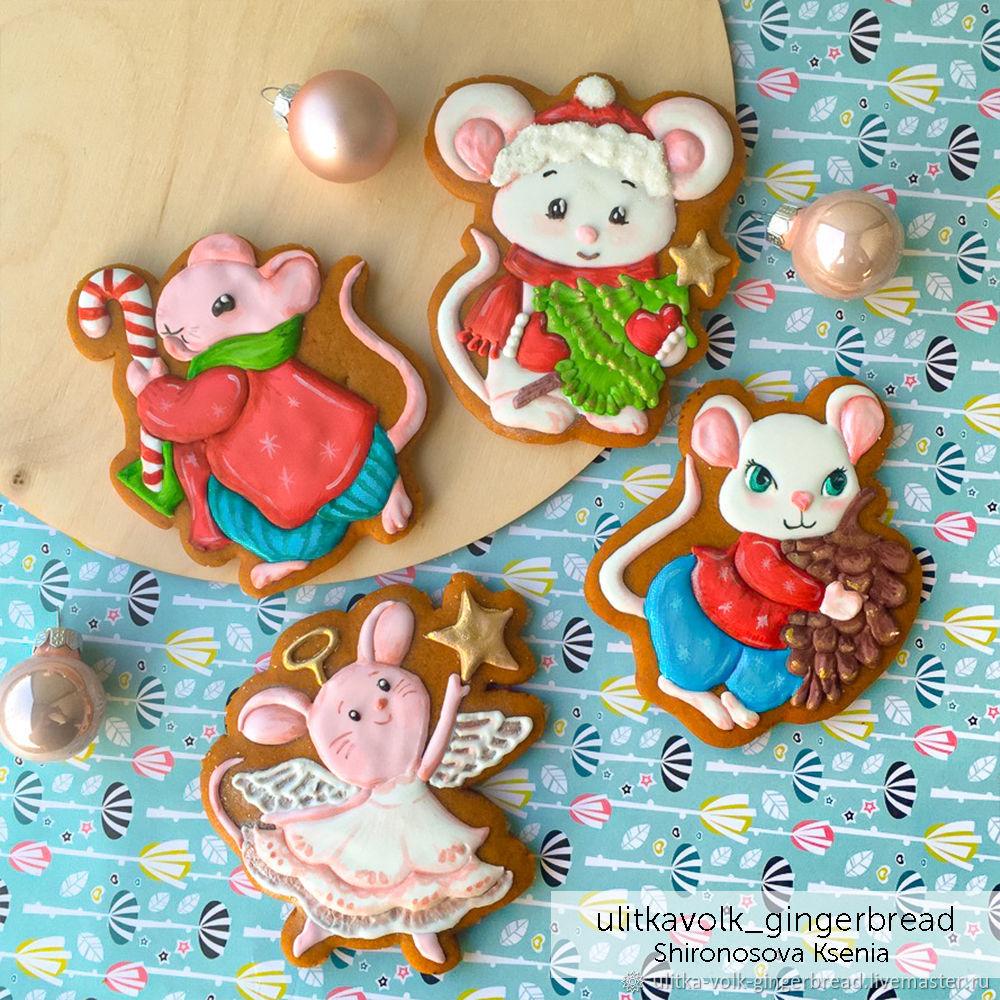 Набор Рождественские мышки, Пряники, Санкт-Петербург,  Фото №1