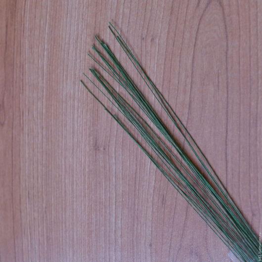 Материалы для флористики ручной работы. Ярмарка Мастеров - ручная работа. Купить флористическая проволока в бумаж.оплетке 0,3 мм. Handmade.