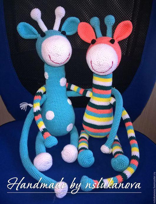 Игрушки животные, ручной работы. Ярмарка Мастеров - ручная работа. Купить Подхваты Жирафики. Handmade. Комбинированный, для детей, дети, toys