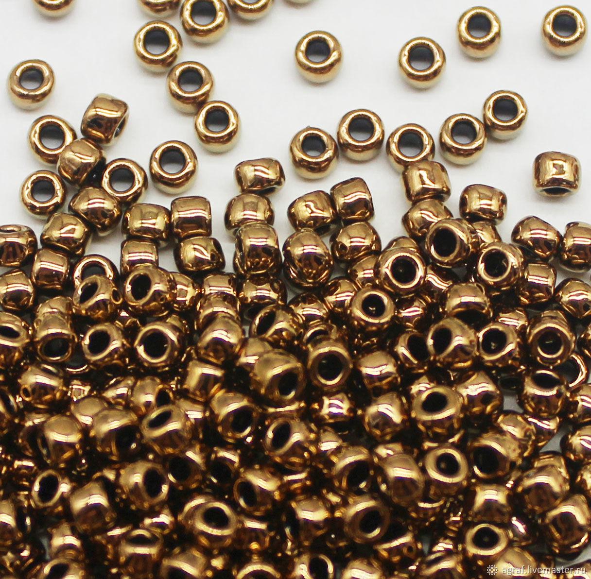 Круглый 8/0 TOHO 221 Bronze Тохо японский бисер, Бисер, Соликамск,  Фото №1