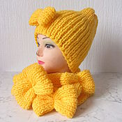 Аксессуары handmade. Livemaster - original item yellow cap