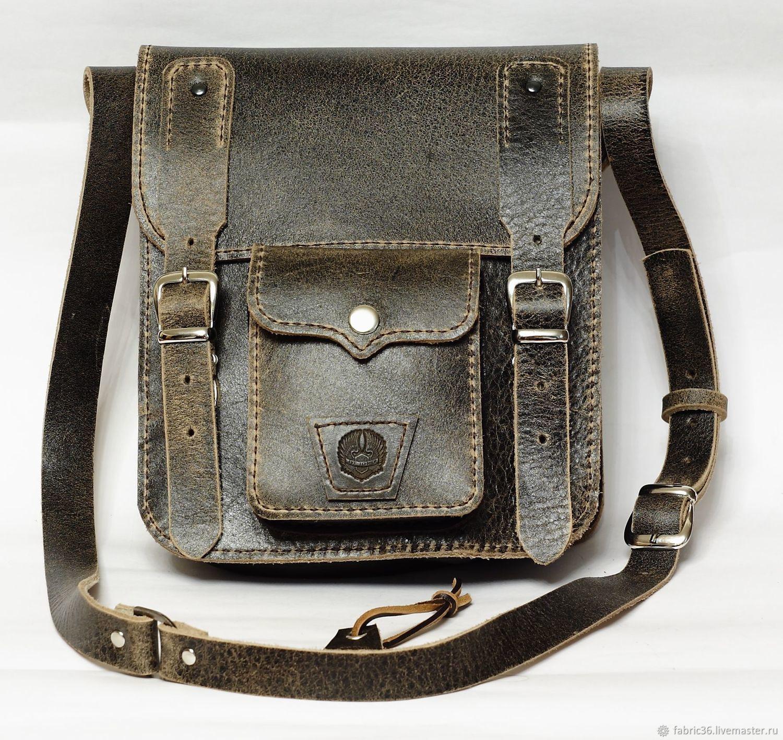 4c65a2b4cd9d Мужские сумки ручной работы. Ярмарка Мастеров - ручная работа. Купить  Брутальная сумка из Итальянской ...
