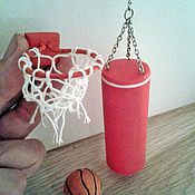 Куклы и игрушки handmade. Livemaster - original item Punching bag and basketball Hoop - Dollhouse miniature. Handmade.