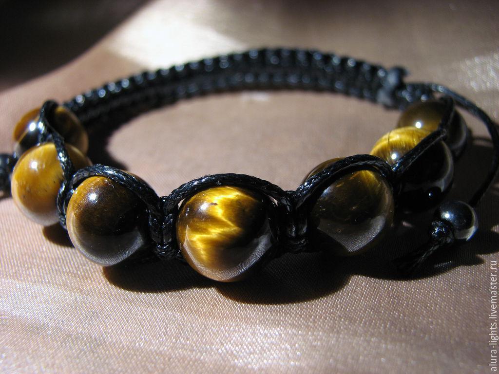 Shamballa bracelet with tiger's-eye 'Courage', Bead bracelet, Moscow,  Фото №1
