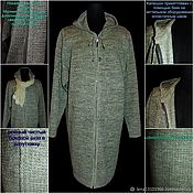 Одежда handmade. Livemaster - original item 80%linen 20% wool or cotton selection of Cardigan Coat Classic. Handmade.