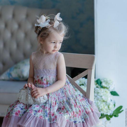 """Одежда для девочек, ручной работы. Ярмарка Мастеров - ручная работа. Купить Платье """"Фея"""". Handmade. Комбинированный, нежное платье, кружево"""