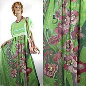 Одежда ручной работы. Ярмарка Мастеров - ручная работа Мятный каприз -  Двойное платье батик натуральный шелк. Handmade.