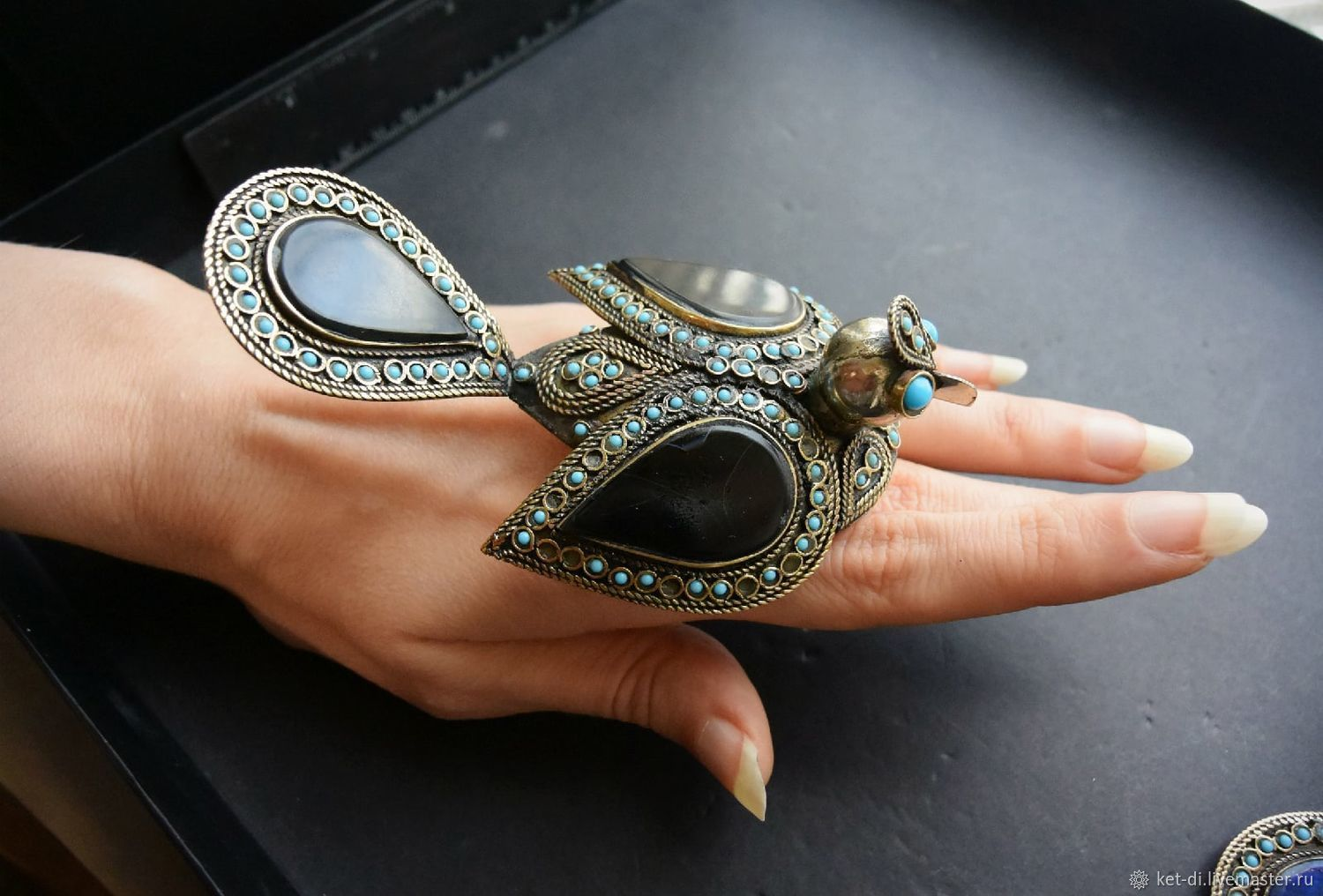 Bird rings are huge lapis lazuli, carnelian and onyx, Rings, Moscow,  Фото №1