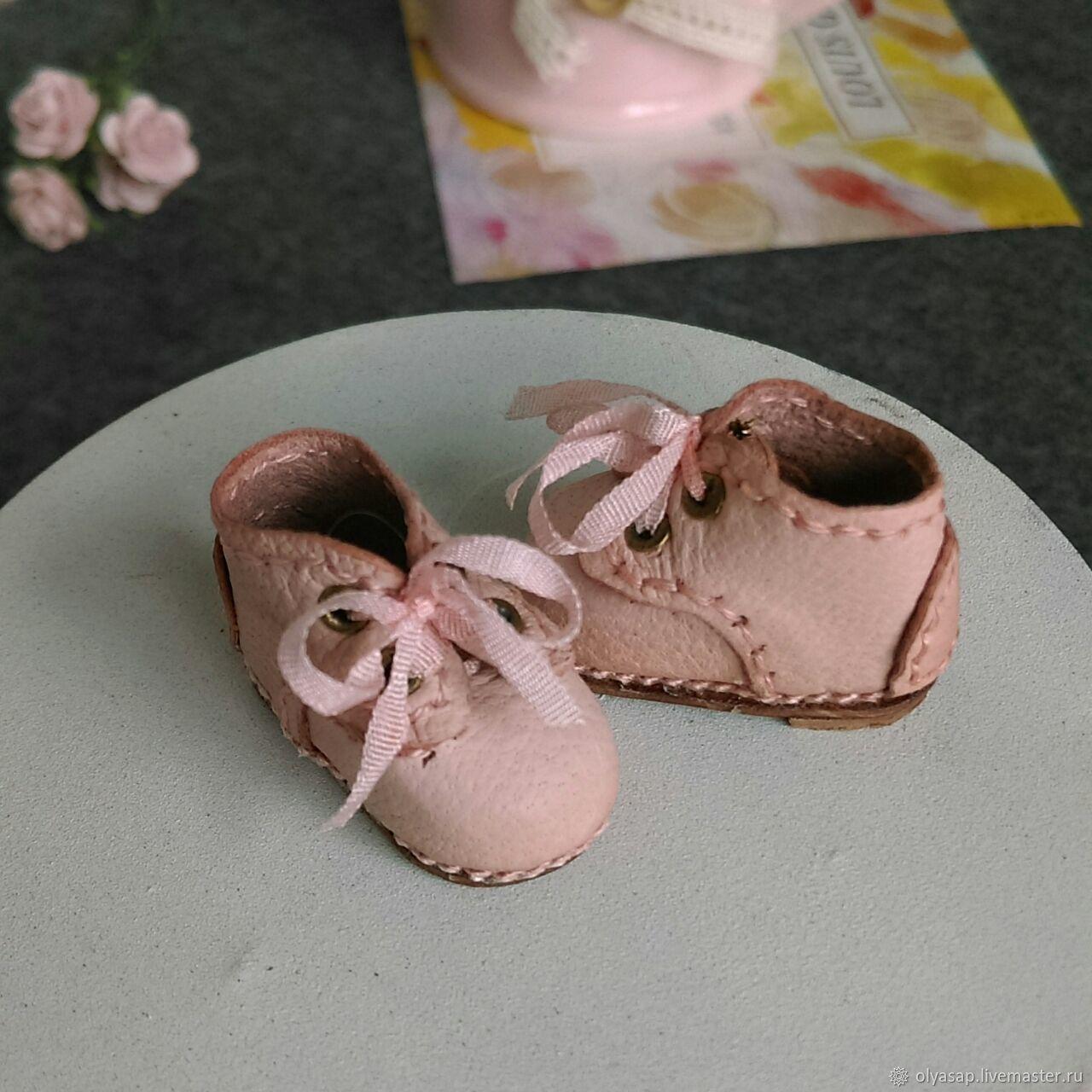 Ботинки дерби для блайз светло-розовые высота 15мм, Одежда для кукол, Новосибирск,  Фото №1