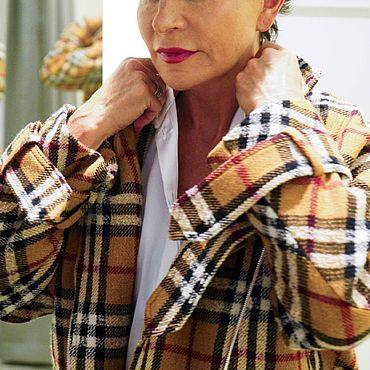 Одежда ручной работы. Ярмарка Мастеров - ручная работа Куртка - бомбер свободного кроя на молнии. Handmade.