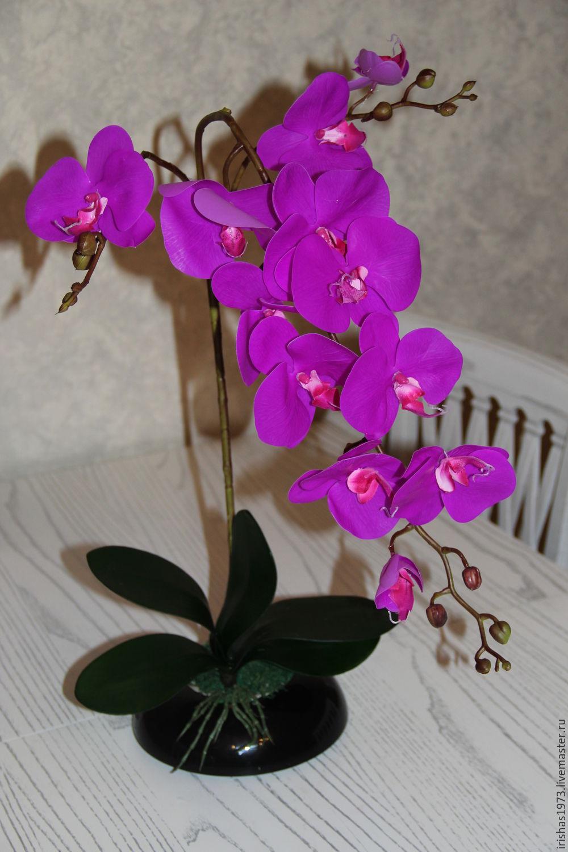 Композиция из искусственных орхидей своими руками фото
