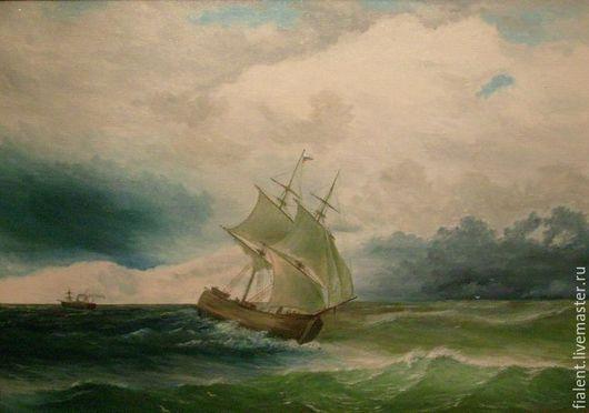 море, шторм ,корабли