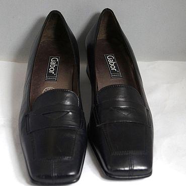 Винтаж ручной работы. Ярмарка Мастеров - ручная работа Винтаж: Габор 37.5   туфли на маленьком  каблуке натуральная кожа. Handmade.
