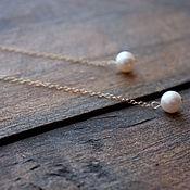 Украшения handmade. Livemaster - original item Long earrings of gold and pearls