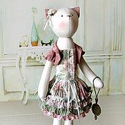"""Куклы и игрушки ручной работы. Ярмарка Мастеров - ручная работа Кошка """"В этом платье с пепельным отливом"""". Handmade."""