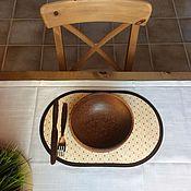 """Для дома и интерьера ручной работы. Ярмарка Мастеров - ручная работа Подставка для тарелок """"Фон"""". Handmade."""