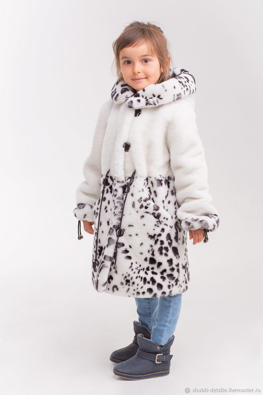 Clothes for Girls handmade. Livemaster - handmade. Buy White Mouton coat for girls.White, children's coat