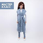 Материалы для творчества handmade. Livemaster - original item Master class on knitting a vest for Smart Dolls and 1/3 BJD. Handmade.