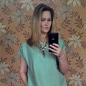 Одежда handmade. Livemaster - original item Free linen dress, BOHO dress.. Handmade.