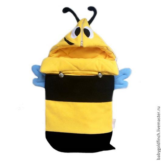 """Для новорожденных, ручной работы. Ярмарка Мастеров - ручная работа. Купить Конверт для новорожденного на выписку и в коляску """"Пчелка"""". Handmade. Конверт"""