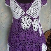 Одежда ручной работы. Ярмарка Мастеров - ручная работа Вязаная крючкомТуника из 100% хлопка. Handmade.