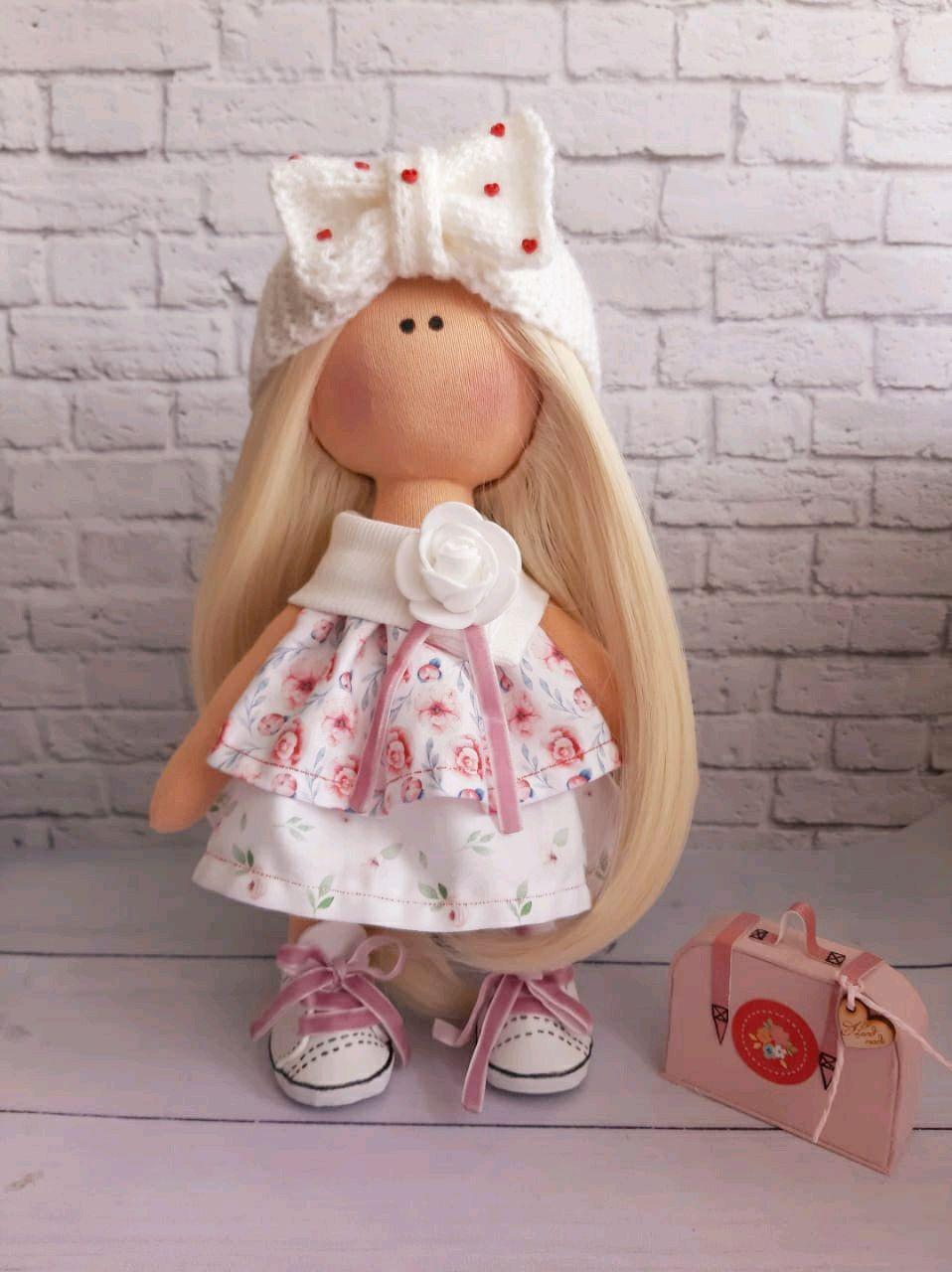 Текстильная интерьерная куколка Малина, Куклы Тильда, Сочи,  Фото №1