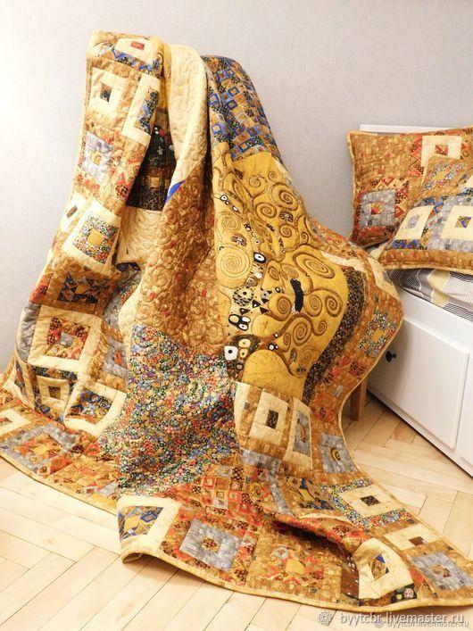 Лоскутное одеяло GUSTAV KLIMT лоскутный комплект покрывало, Покрывала, Москва,  Фото №1