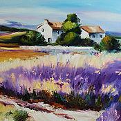 handmade. Livemaster - original item Lavender painting