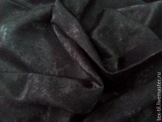 Шитье ручной работы. Ярмарка Мастеров - ручная работа. Купить Мягкая черная ткань для плотных штор. Handmade. Черный