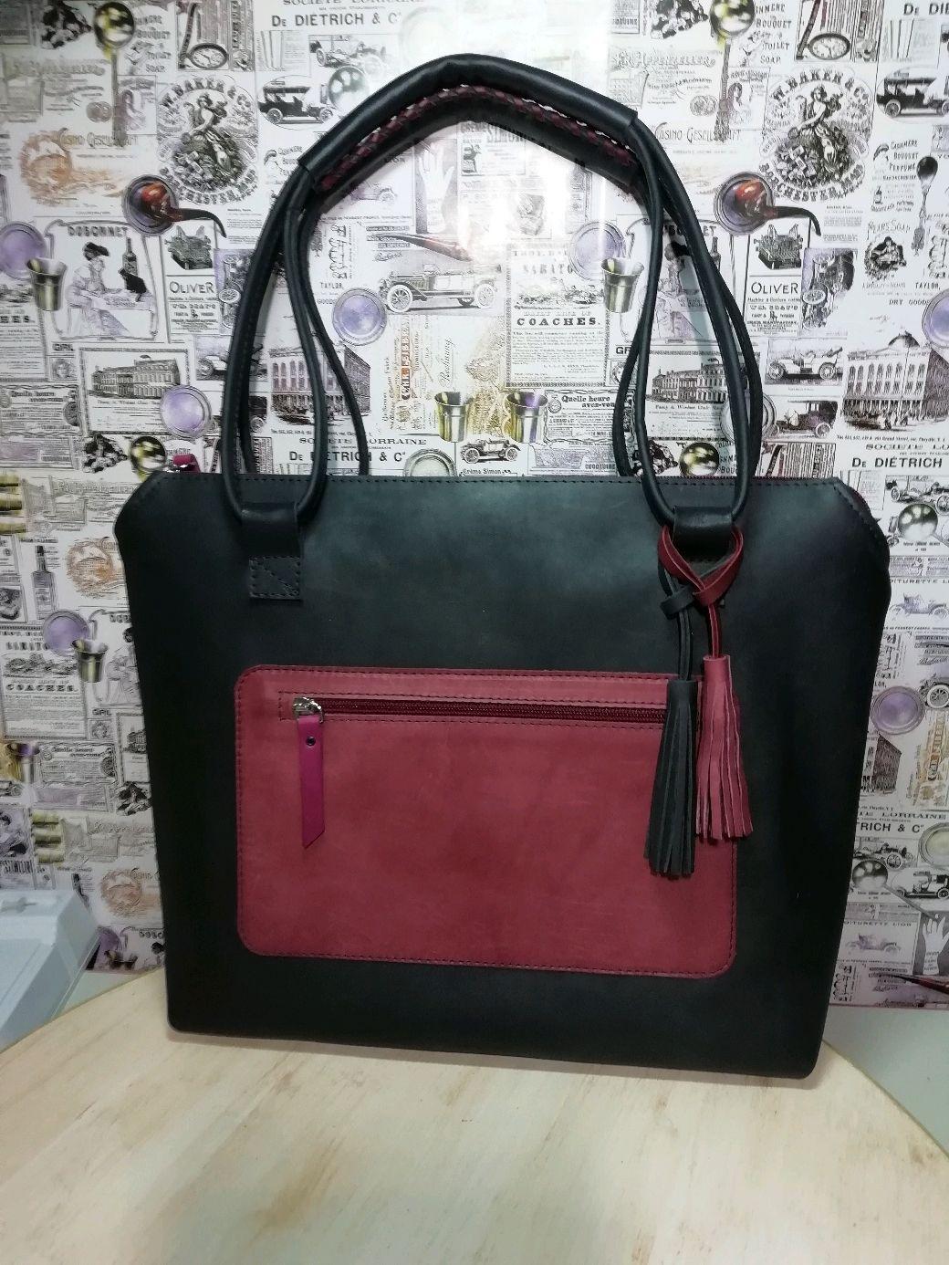 Сумка шопер кожа, Классическая сумка, Саратов,  Фото №1