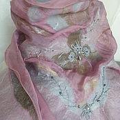 Аксессуары ручной работы. Ярмарка Мастеров - ручная работа Валяный бактус(нунофелтинг)Пыльная роза. Handmade.