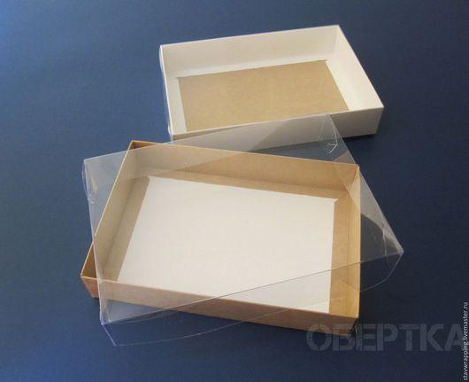 Упаковка ручной работы. Ярмарка Мастеров - ручная работа. Купить Коробка 22х15х4 см с прозрачной крышкой. Handmade. Коробка для пряников
