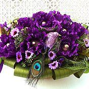 Цветы и флористика ручной работы. Ярмарка Мастеров - ручная работа Букет из конфет в корзине Фиолетовые Грезы. Handmade.